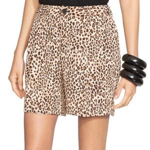 Ralph Lauren leopard print high waisted shorts Sz6